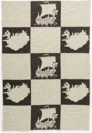Álafoss Wool Blanket - Jaquard Viking 0203